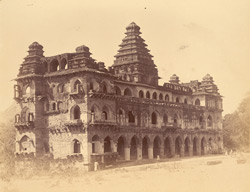 Front of the Raja Mahal (north-east), Chandragiri, North Arcot District